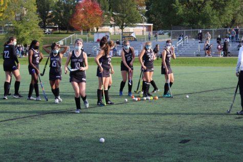 Girls varsity field hockey loses final regular season game to the Ann Arbor Pioneers 7-0