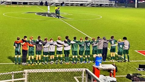 Boys varsity soccer falls 4-0 to Byron Center in the second round of OK White Conference Tournament