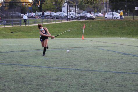 Girls varsity field hockey loses playoff game against Ann Arbor Pioneer 7-2