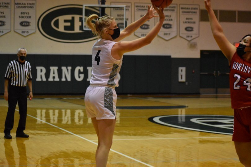 Theryn Hallock shines in girls varsity basketball's 49-33 win over FHN
