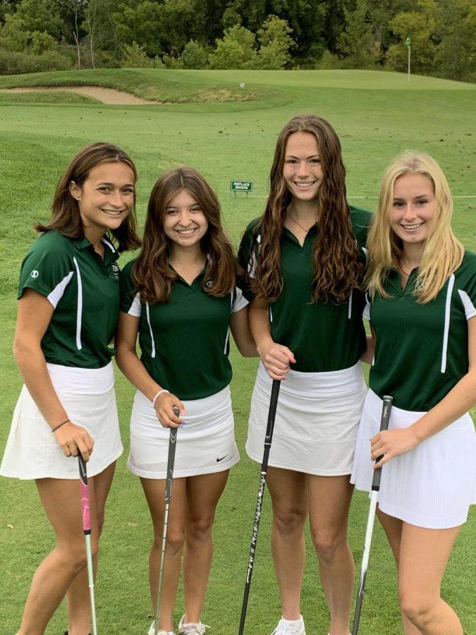 Girls+varsity+golf+battles+inconsistencies+throughout+the+season