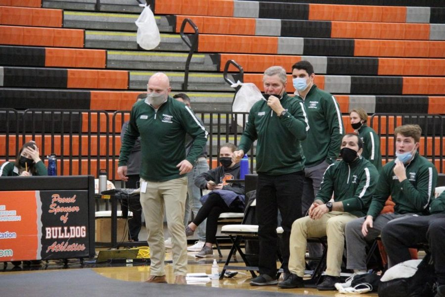 Wrestling dominates on Senior Night, beats Kenowa Hills 51-15