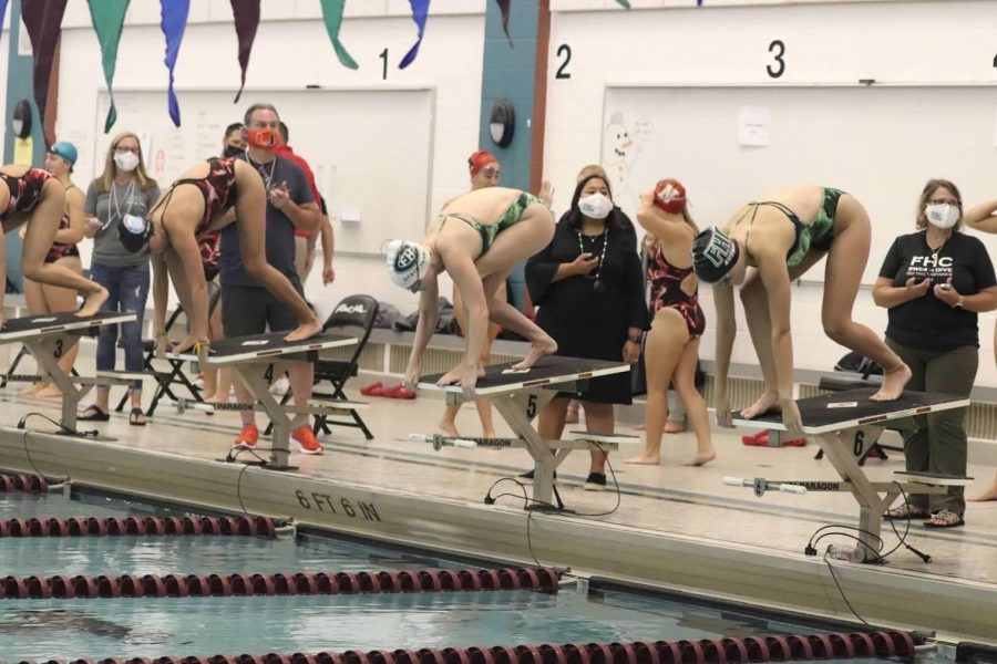 FHC Swim and Dive team wins the Battle of the Hills with a score of 109-77