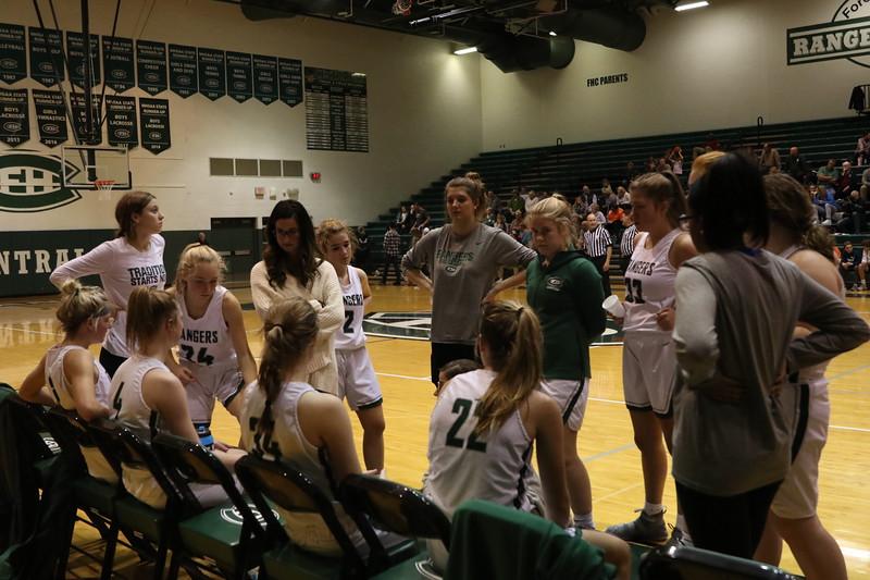 Theryn Hallock drives the girls varsity basketball to a three-game winning streak, topping Grand Rapids Christian 62-55