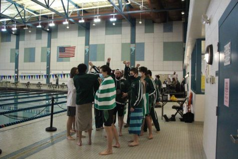 Boys swim and dive wins last dual meet against Northview to head into conference with an even record