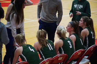 Theryn Hallock's 23 point game leads girls varsity basketball past Northview 53-29