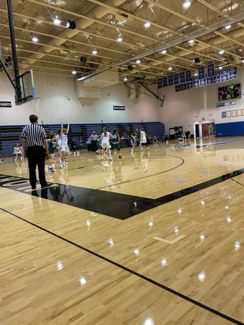 Girls JV basketball picks up big non-conference win against the Thornapple Kellogg Trojans