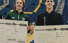 Boys varsity wrestling sends two seniors to the state tournament