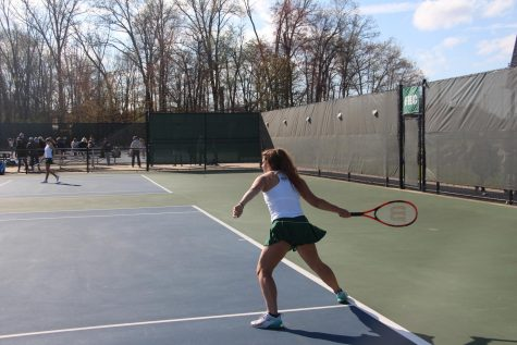 The girls JV tennis team loses a tough one to FHN 4-9