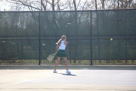 Girls varsity tennis battles to tie Traverse City West 4-4