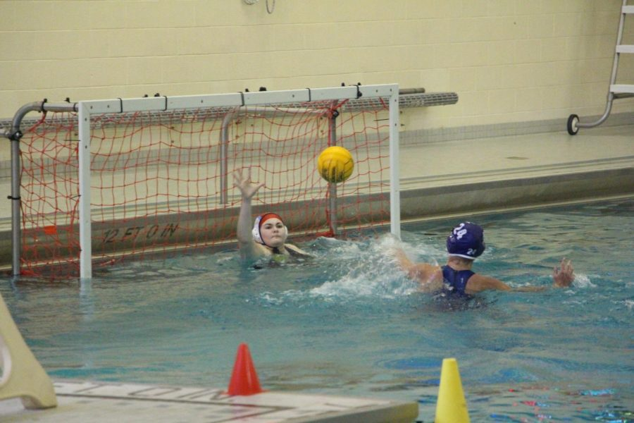 Girls JV water polo starts season off with a close 9-8 win against Grand Ledge