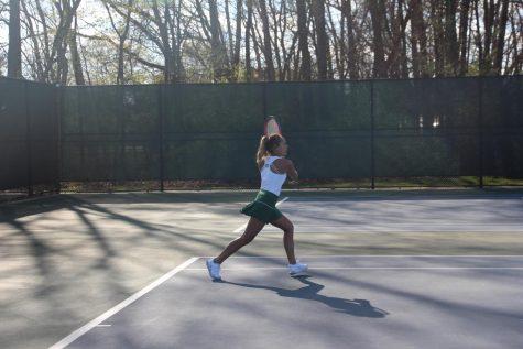 Girls JV tennis picks up a 9-1 win against Northview