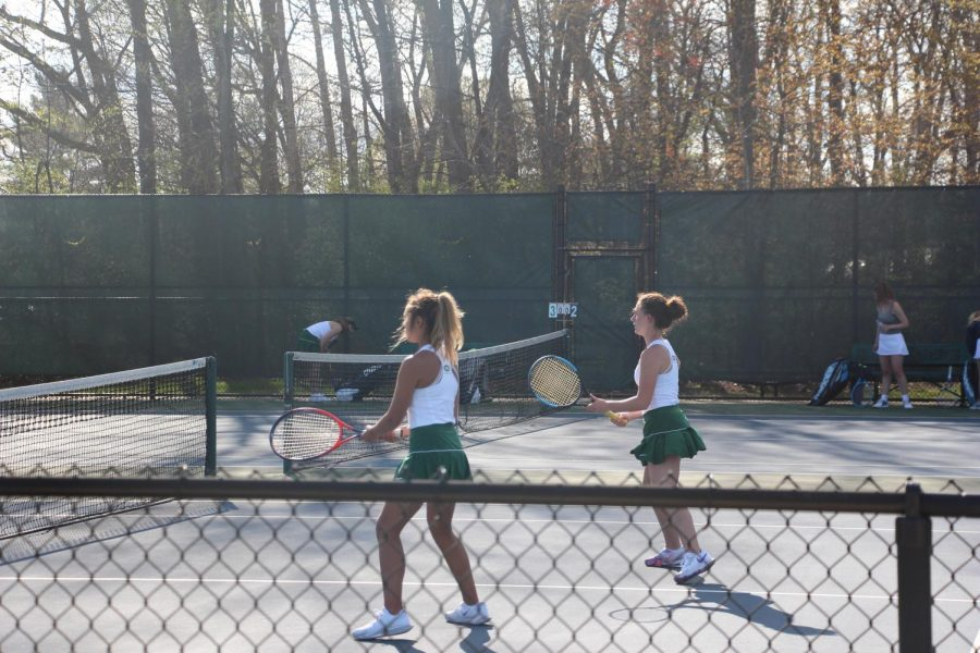 Girls JV tennis wins 6-3 against Catholic Central in an out-of-conference match
