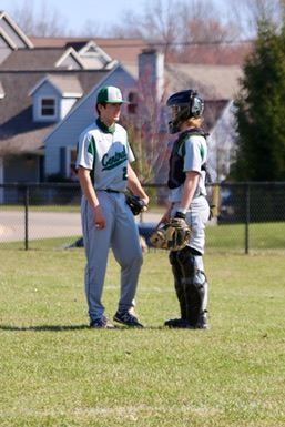 JV baseball splits doubleheader with Caledonia and falls short for the first time this season