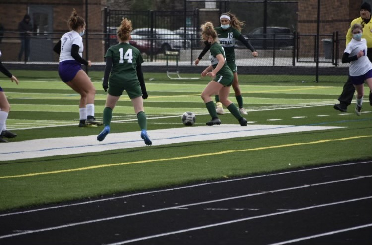 Girls JV soccer stays undefeated by beating beat East Grand Rapids 7-0
