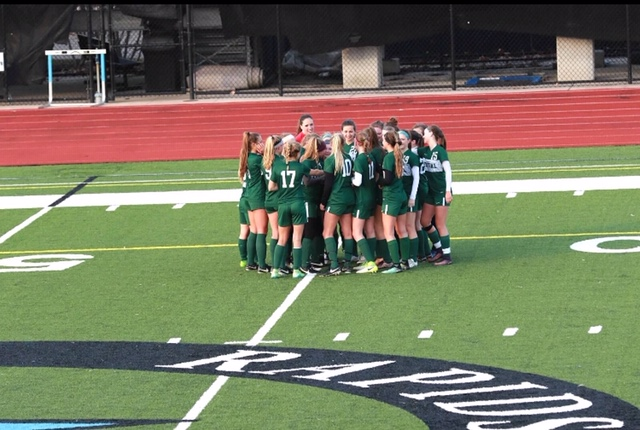 Dailey Tucker leads girls varsity soccer to 2-1 victory against GRC
