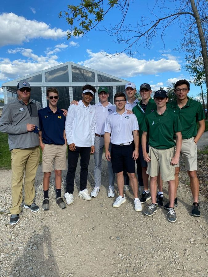 Nicholas Notarnicola and company steer boys varsity golf to a tenth place finish at the Lansing Christian Invitational