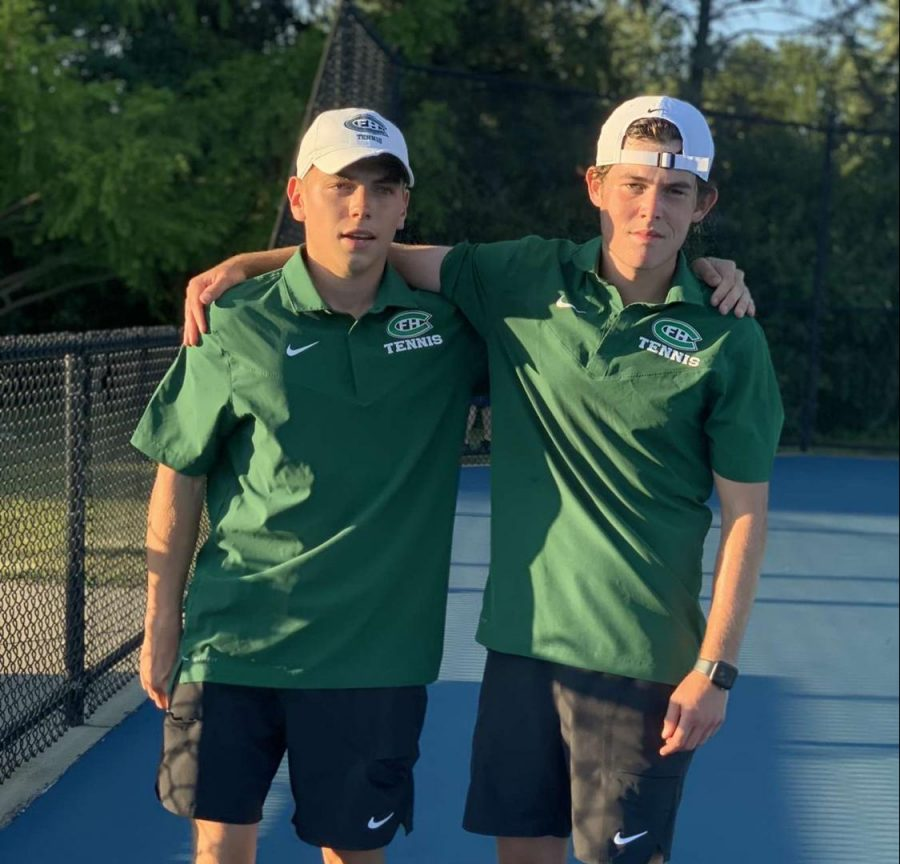 Boys varsity tennis outlasts East Grand Rapids 5-3 following the Midland Midweek Classic