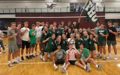 Varsity volleyball makes quick work of its cross-town rivals and wins its third straight Battle of the Hills
