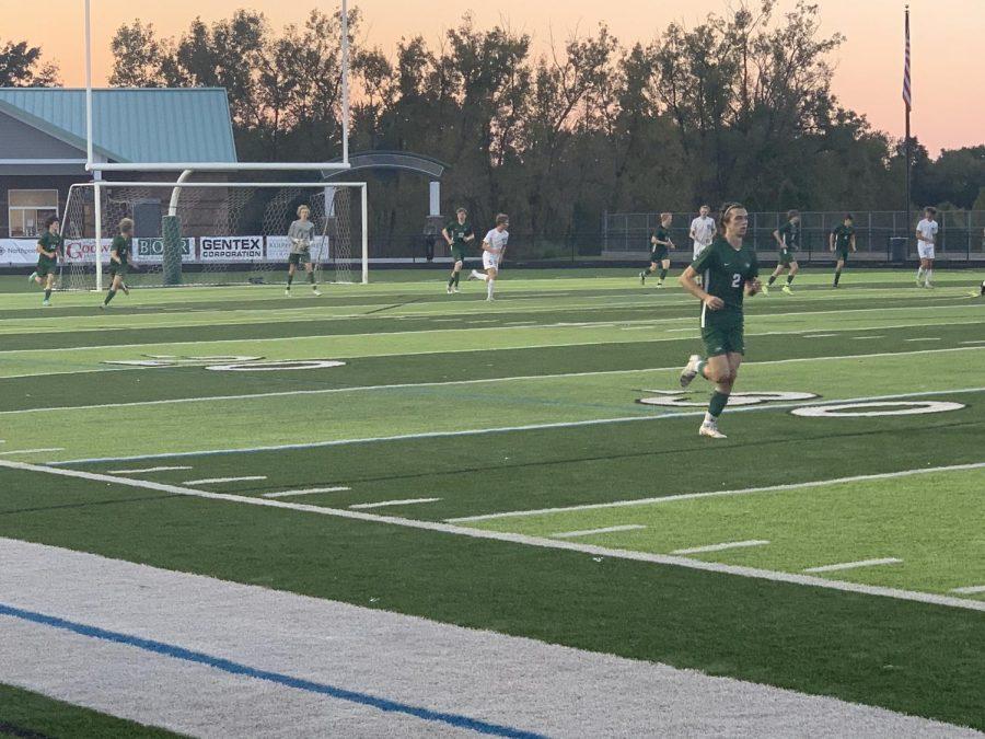 Junior Noah Gleasons early goal isnt enough for the boys varsity soccer team as FHC falls to Byron Center 2-1